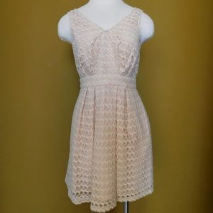 BCBGeneration Lace Fit and Flare Dress